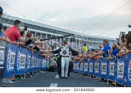 May 20, 2018 - Concord, North Carolina, USA: Kevin Harvick (4) gets introduced for the Monster Energy All-Star Race at Charlotte Motor Speedway in Concord, North Carolina.