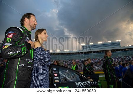 May 19, 2018 - Concord, North Carolina, USA: Kurt Busch (41) gets introduced for the Monster Energy All-Star Race at Charlotte Motor Speedway in Concord, North Carolina.