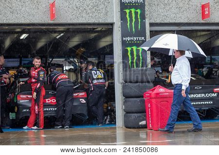May 18, 2018 - Concord, North Carolina, USA: Austin Dillon (3) waits to practice for the Monster Energy Open at Charlotte Motor Speedway in Concord, North Carolina.