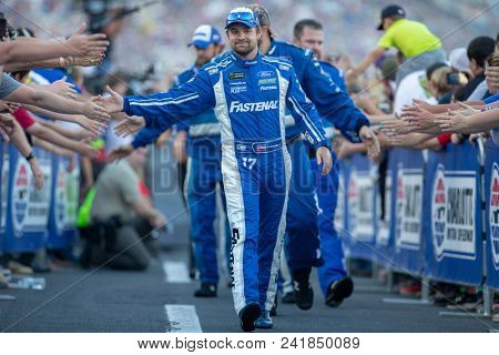 May 20, 2018 - Concord, North Carolina, USA: Ricky Stenhouse, Jr (17) gets introduced for the Monster Energy All-Star Race at Charlotte Motor Speedway in Concord, North Carolina.