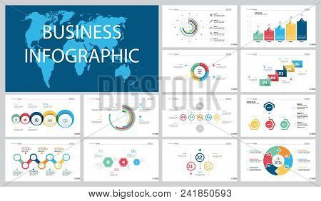 Colorful Economy Or Research Concept Infographic Charts Set. Business Design Elements For Presentati