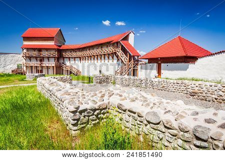Feldioara, Romania. Medieval Fortress Marienburg In Transylvania, Brasov County.