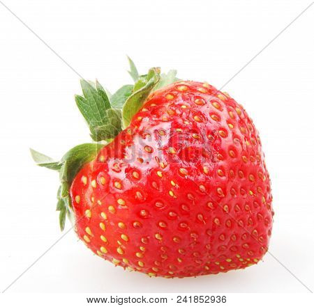 Strawberry On White Background Color Image Stock Photos