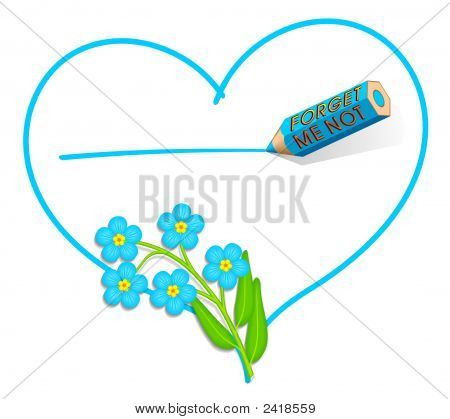 'Forget-Me-Not' Love Note