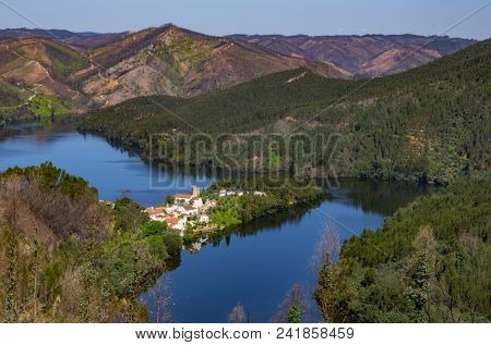 Countryside landscape of the region of Dornes in Portugal