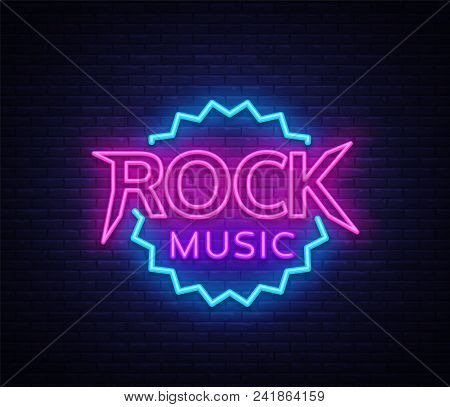 Rock Music Vector Vector & Photo (Free Trial) | Bigstock