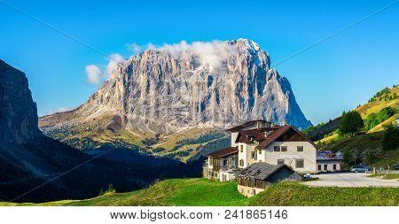 Dolomites Italy Landscape - Sassolungo Langkofel
