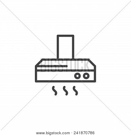 Exhaust Hood Outline Icon. Linear Style Sign For Mobile Concept And Web Design. Kitchen Ventilation