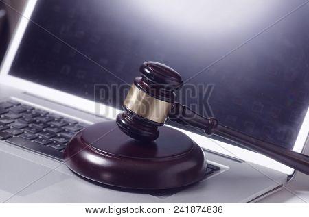 Online internet law concept image