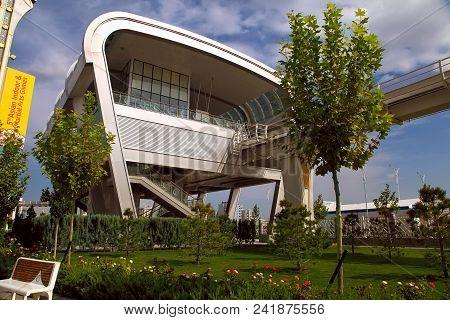 Ashgabat, Turkmenistan, September 26, 2017:  Modern Architecture Of Ashgabat. Ashgabat Is The Capita