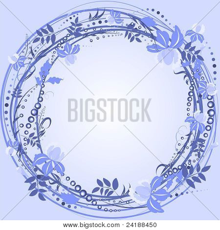 Purple Wreath Frame