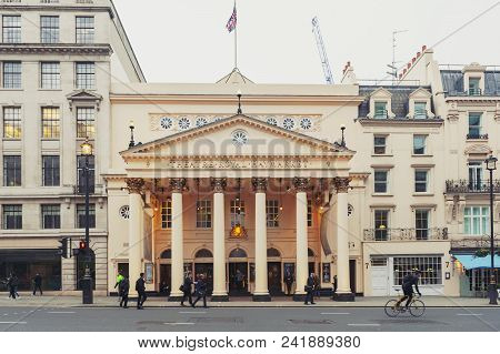 London, Uk - April 2018: Theatre Royal Haymarket, A West End Theatre And The Third-oldest London Pla
