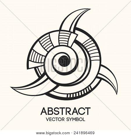 Abstract Geometric Symbol. Concept Of Imagination, Magic, Alchemy, Religion, Philosophy, Spiritualit