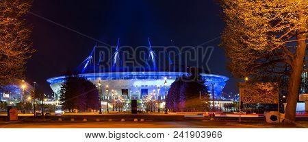 St.petersburg, Russia - 14 May, 2018: 21st Fifa World Cup 2018. Stadium Zenit Arena, Football Stadiu