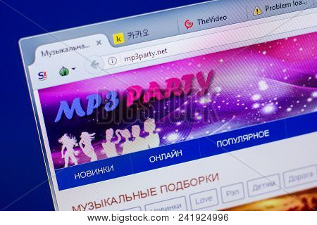 Ryazan, Russia - May 20, 2018: Homepage Of Mp3party Website On The Display Of Pc, Url - Mp3party.net