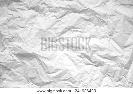 Paper Texture Background Crumpled Paper Wrinkled Texture, Creased White Paper Sheet