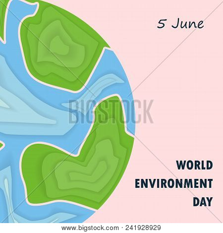World Environment Day Concept Vector Logo Design Template.june 5st World Environment Day Concept.wor