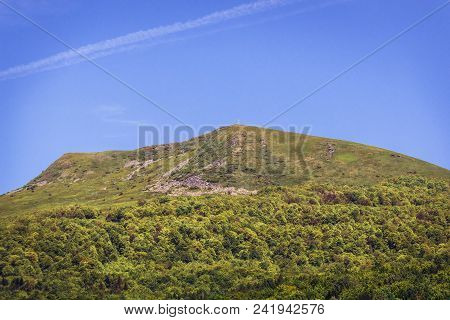 View On A Tarnica Peak, The Highest Peak Of Polish Western Bieszczady Mountains