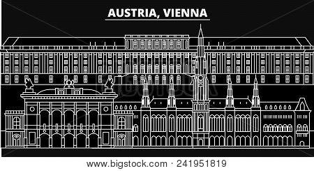 Vienna City Silhouette Skyline. Austria - Vienna City Vector City, Austrian Linear Architecture, Bui