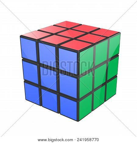 Minsk, Belarus, 23 May 2018 . Editorial Vector Illustration. Rubik S Cube Is A 3d Combination Puzzle