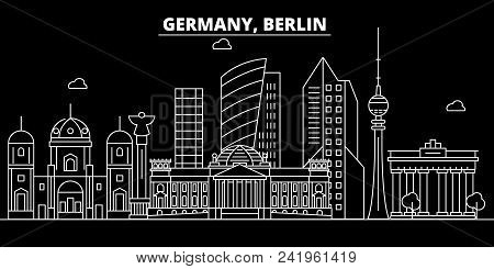 Berlin City Silhouette Skyline. Germany - Berlin City Vector City, German Linear Architecture, Build