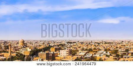 Panoramic View On Historical City Of Maybod I- Iran