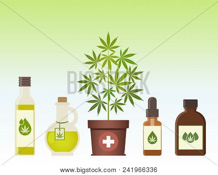 Marijuana Plant And Cannabis Oil. Medical Marijuana. Hemp Oil In A Jar. Cbd Oil Hemp Products. Oil G