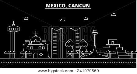 Cancun Silhouette Vector Photo Free Trial Bigstock