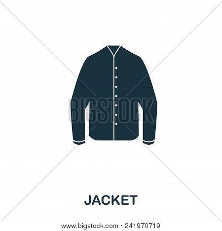 Jacket Icon. Flat Style Icon Design. Ui. Illustration Of Jacket Icon. Pictogram Isolated On White. R
