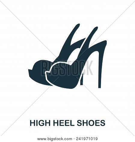 High Heel Shoes Icon. Flat Style Icon Design. Ui. Illustration Of High Heel Shoes Icon. Pictogram Is