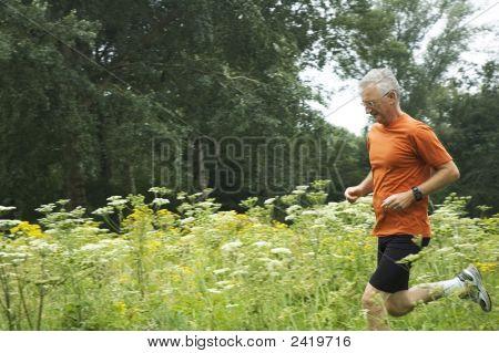 Running Senior Man