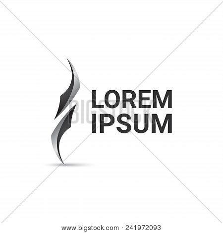 Blade Curl Vector Logo Design Template, Wave Icon, Sharp Sign, Vector Illustration