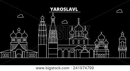 Yaroslavl Silhouette Skyline. Russia - Yaroslavl Vector City, Russian Linear Architecture, Buildings