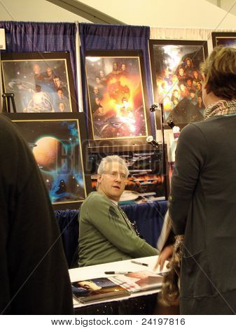 Data, Brent Spiner Talks To Fan As He Signs Photos