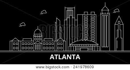 Atlanta City Silhouette Skyline. Usa - Atlanta City Vector City, American Linear Architecture, Build