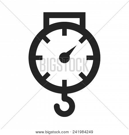 Scales Icon Simple Vector Sign And Modern Symbol. Scales Vector Icon Illustration, Editable Stroke E