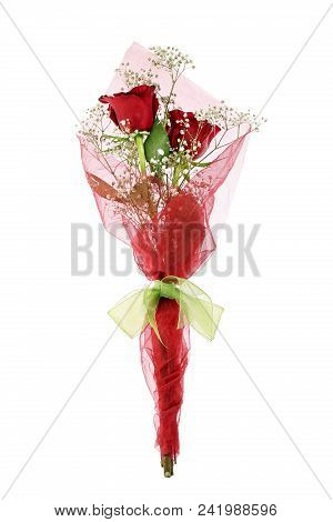 Bouquet Of Roses Isolated On White Background