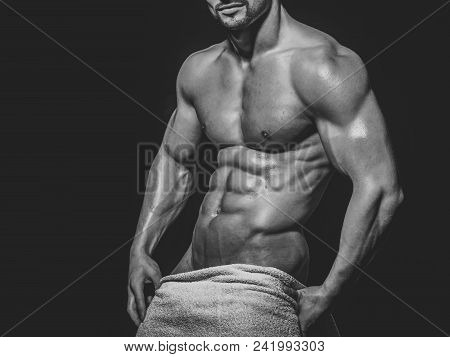 Face Boy For Magazine Cover. Mqan Face Portrait In Your Advertisnent. Dieting And Fitness, Healthy L
