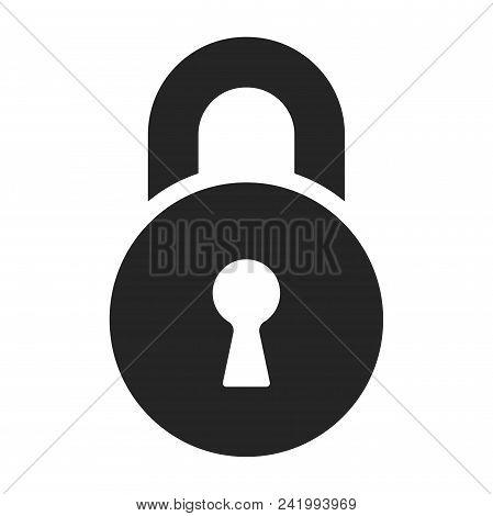 Lock Icon Simple Vector Sign And Modern Symbol. Lock Vector Icon Illustration, Editable Stroke Eleme