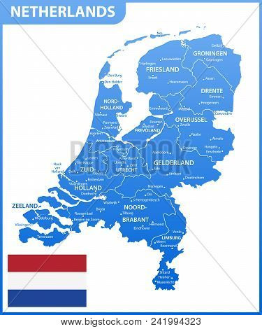 The Detailed Map Of Netherlands With Regions Or States And Cities, Capital. Administrative Division.