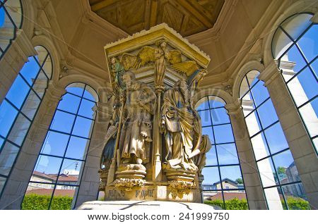 Words Of Wisdom: A View Inside Of The Well Of Moses, Dijon, France