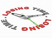 loosing time wasted hours time and minutes lost useless task poster