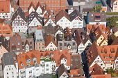 Aerial view of a typical city in Germany. poster