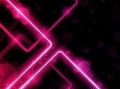 Vector - Red Lines Background Neon Laser poster