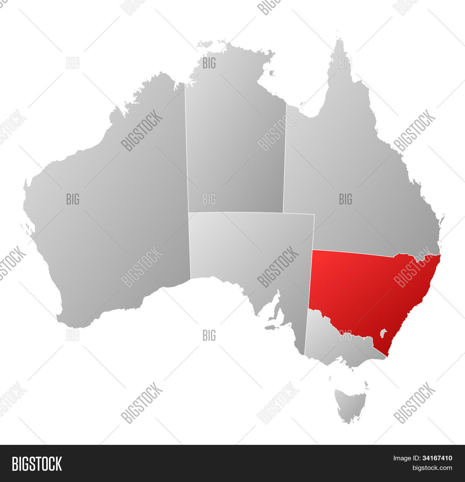 Map Of Australia New South Wales.Map Australia New Image Photo Free Trial Bigstock