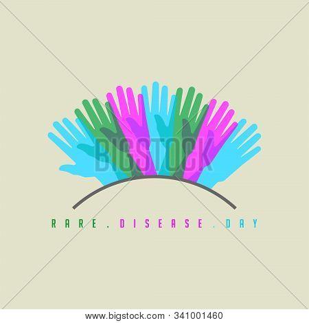 Rare Disease Day Design, Symbol For Rare Disease Logo, Vector Illustration