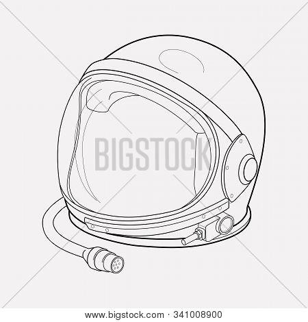 Astronaut Helmet Icon Line Element. Vector Illustration Of Astronaut Helmet Icon Line Isolated On Cl