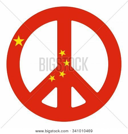 Chinese Peace Pacific Symbol Vector Illustration Eps 10.