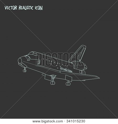 Space Shuttle Icon Line Element. Vector Illustration Of Space Shuttle Icon Line Isolated On Clean Ba