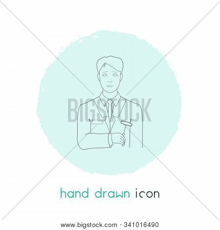 Psychiatrist Icon Line Element. Illustration Of Psychiatrist Icon Line Isolated On Clean Background